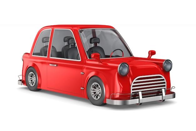 白いスペースに赤い車