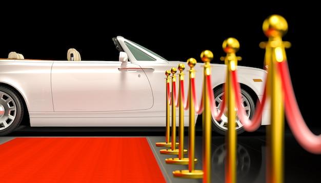 Red carpet and car