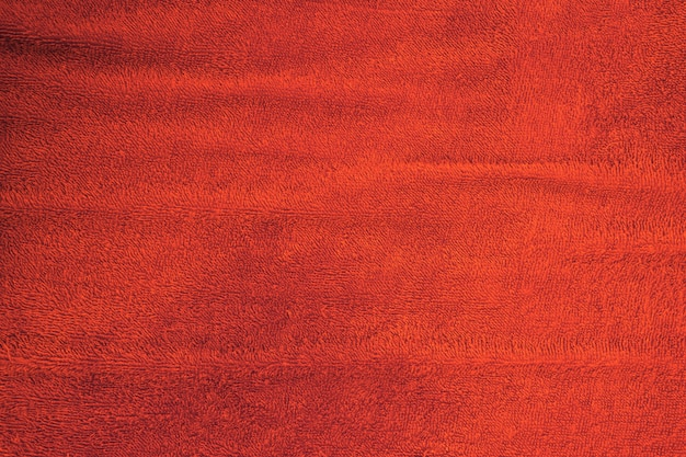 Red carpet cotton texture for background.