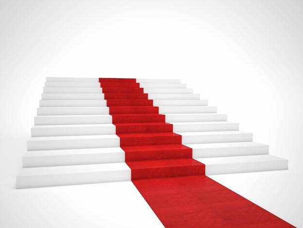 Красная ковровая лестница