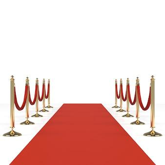 붉은 밧줄으로 레드 카펫