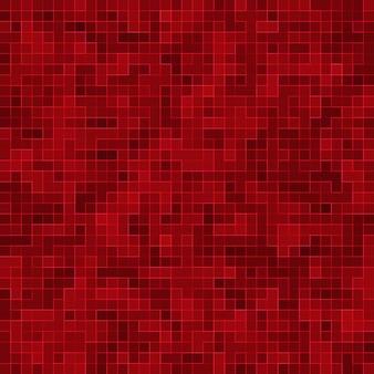 赤いセラミックガラスのカラフルなタイルのモザイク構成パターン。
