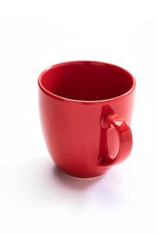 赤いセラミックマグ
