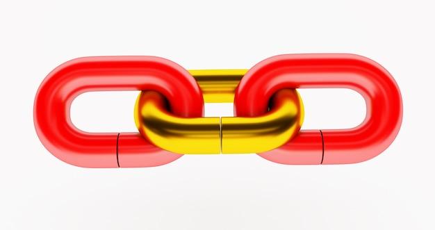 ゴールドリンクの赤いチェーン