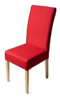 Красный стул, изолированные на белом фоне