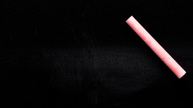 Red chalky crayon