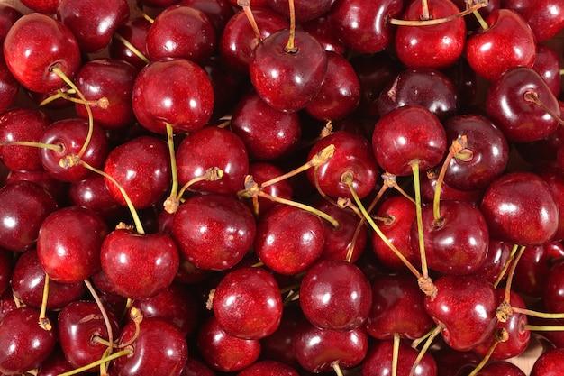 Красная вишня как фоновая текстура