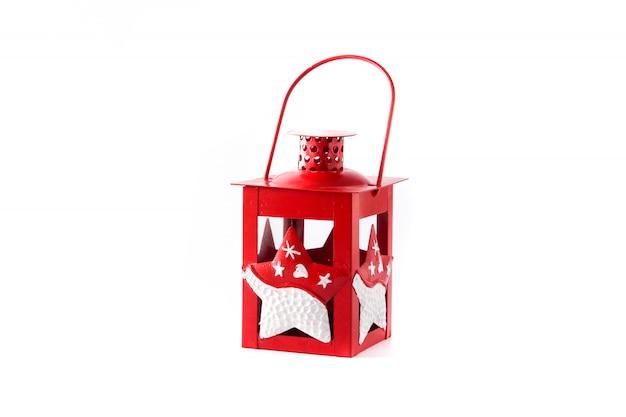 赤いクリスマスランタン