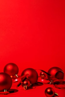Red christmas on red background