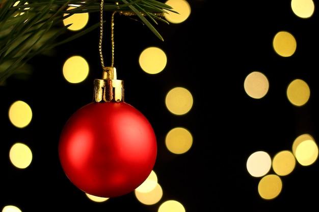 Red christmas tree decoration