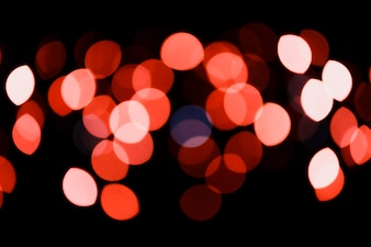 Red circular neon lights background