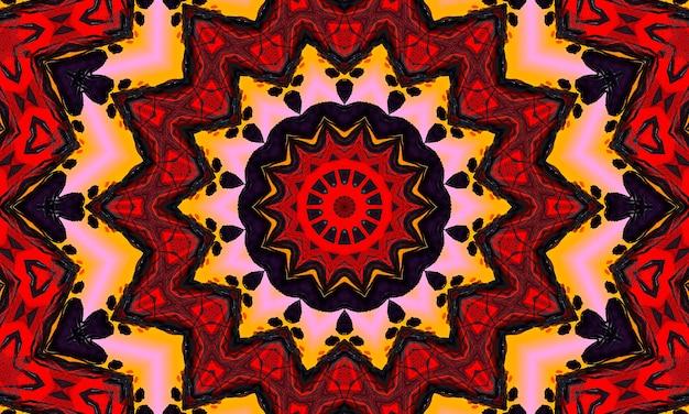 赤い円形の波が光ります。万華鏡の照明効果。あなたのビジネスの抽象的な背景。