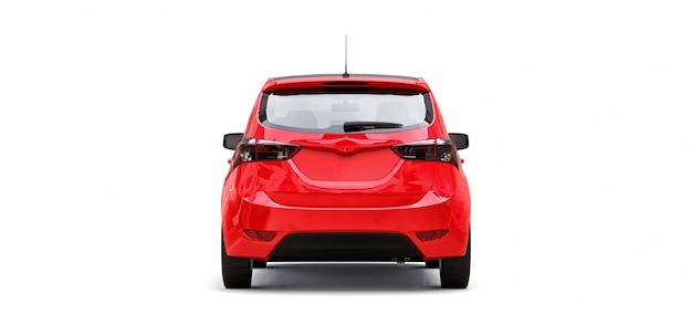 あなたの創造的なデザインのための空白の表面を持つ赤いシティカー。 3dレンダリング。
