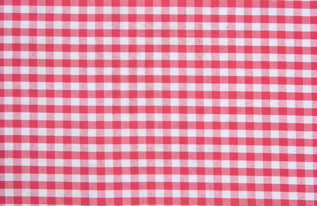 Red classic checkered tablecloth texture