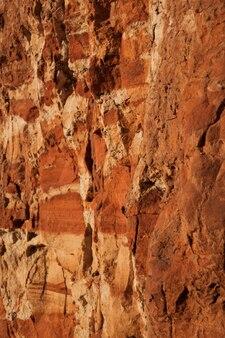 붉은 점토 사막 갈라진 질감