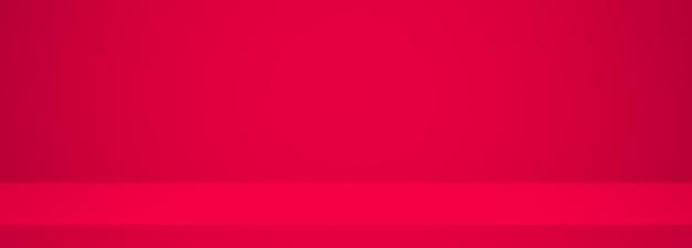 Красная чистая комната, набор световых фотографий панорамный студийный фон.