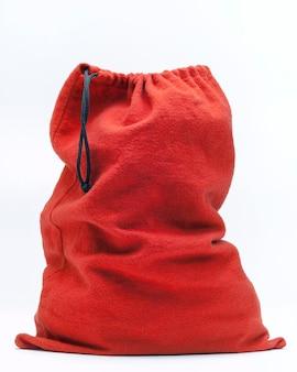 Красная тканевая сумка