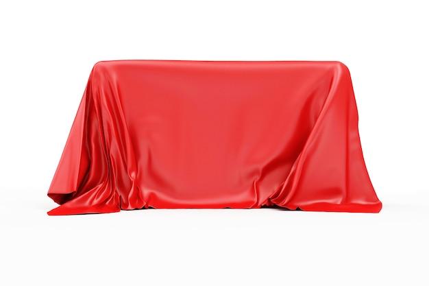 Красная ткань покрытая доской изолированные