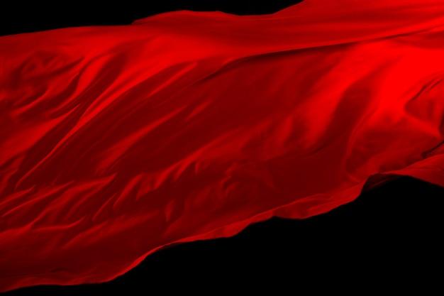 Red cloth fly air, reddish satin fabric throws