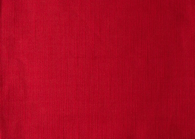 Red cloth napkin background top view