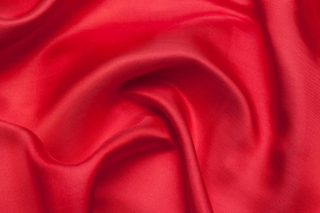 赤い布波背景テクスチャ