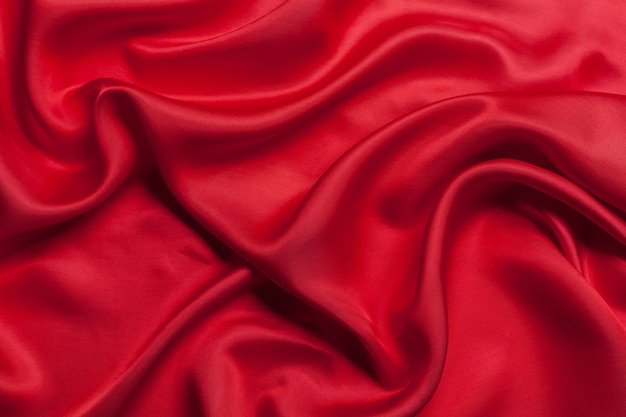 Red cloth waves background texture