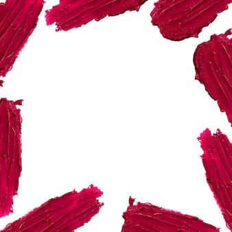Red color lipstick stroke around border