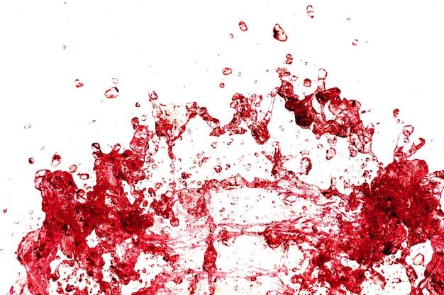 赤色の水スプラッシュ