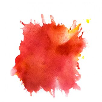 Red colorful watercolor splash.
