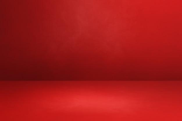 Красный бетонный интерьер фон. пустая шаблонная сцена