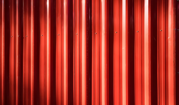 Red corrugated iron fence