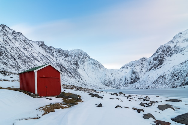 Red cottage norwegian style.