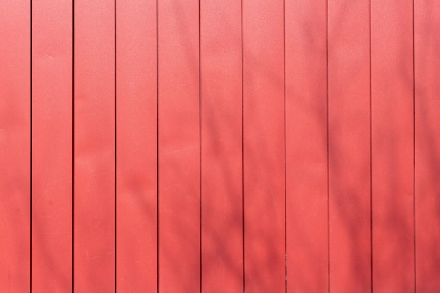 Red, crimson metal sheet for industrial building and construction.
