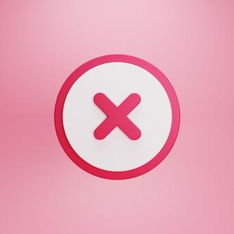 Кнопка красного креста и символ отмены