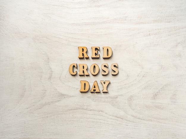 적십자의 날. 아름다운 인사말 카드.