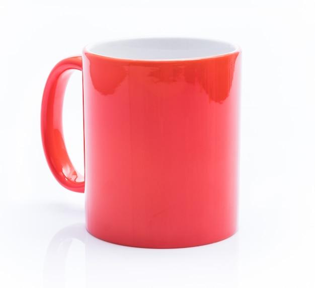 白地に赤カップ