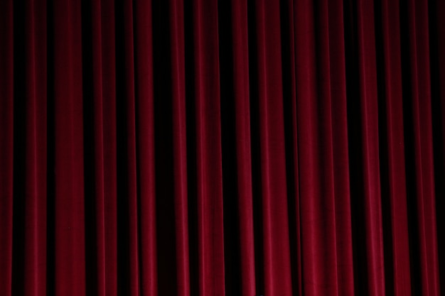 Red curtain close before theatre drama begin background