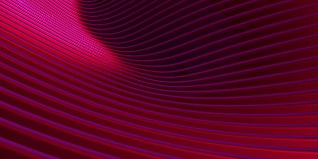 赤い曲線の歪んだ形状平行線赤いプラスチック管のテクスチャ