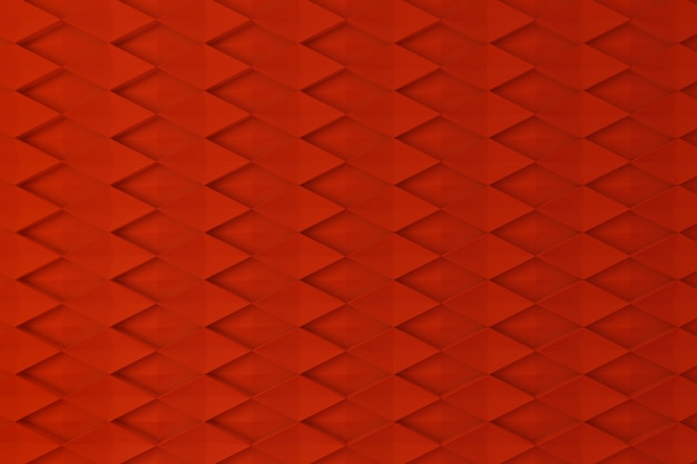 Red diamond shape 3d wall for background, backdrop or wallpaper
