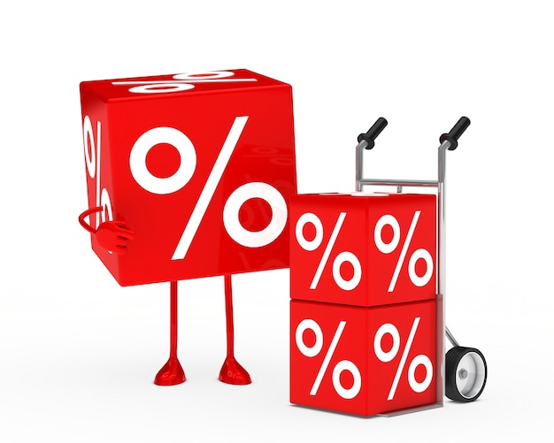 Red dice next to a trolley with others dice