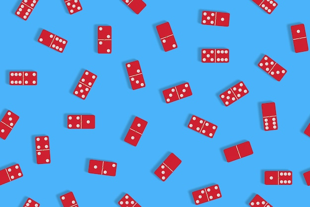Red domino seamless pattern.