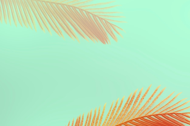 Red dyed areca palm leaf pattern on a green background