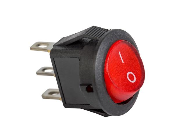 赤い電力スイッチ、電子部品、絶縁