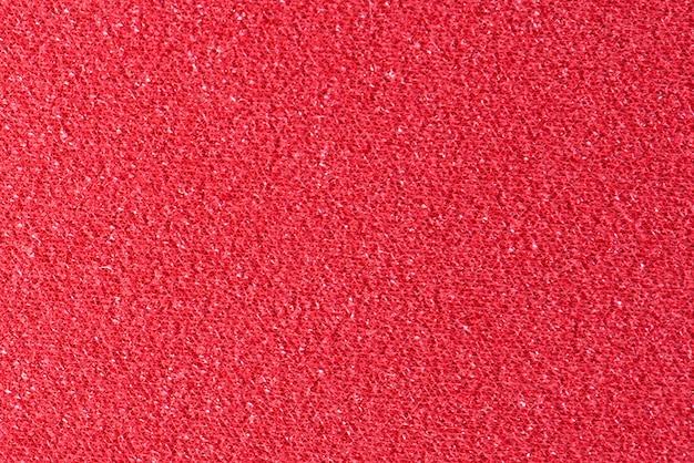 Primo piano tessuto rosso