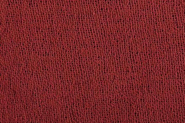 Red fabric fiber detail.