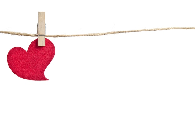Red fabric heart