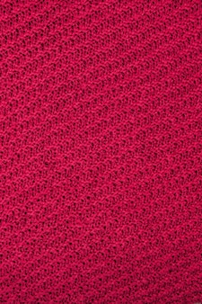 Red fabric texture background, texture for design. can be used as background, wallpaper.