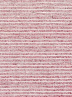 Red fabric texture in a white stripe