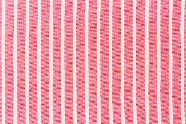 Red fabric with white line pattern background
