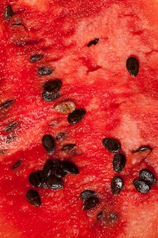 Red flesh watermelon with seeds